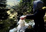 Schnee im Kinderhotel Oberjoch