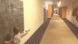 langer Flur im Kinderhotel Oberjoch
